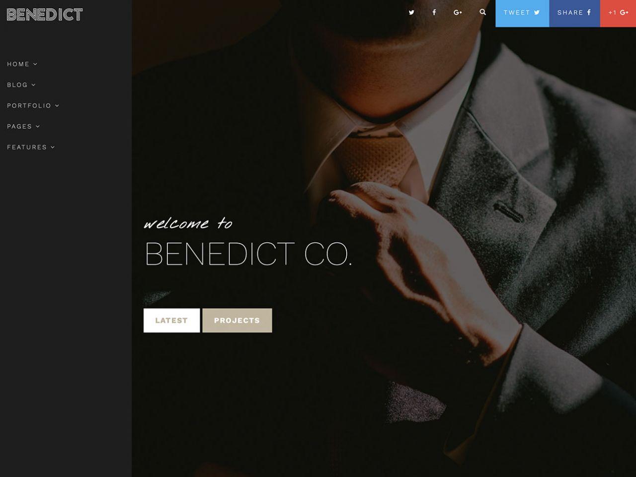 Benedict-个人模板,博客,艺术展示模板