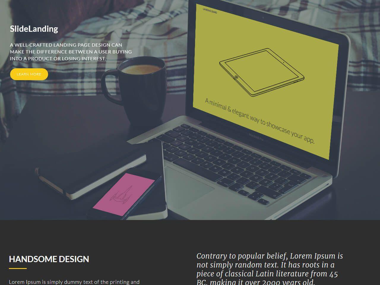 SlideLanding-登录页面