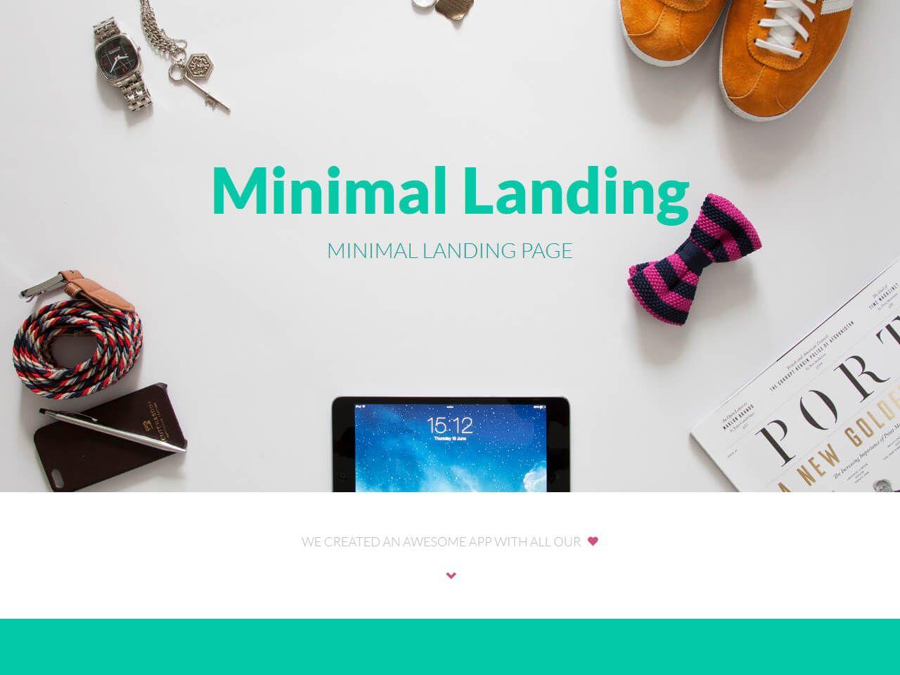 MinimalLanding-登录页模板