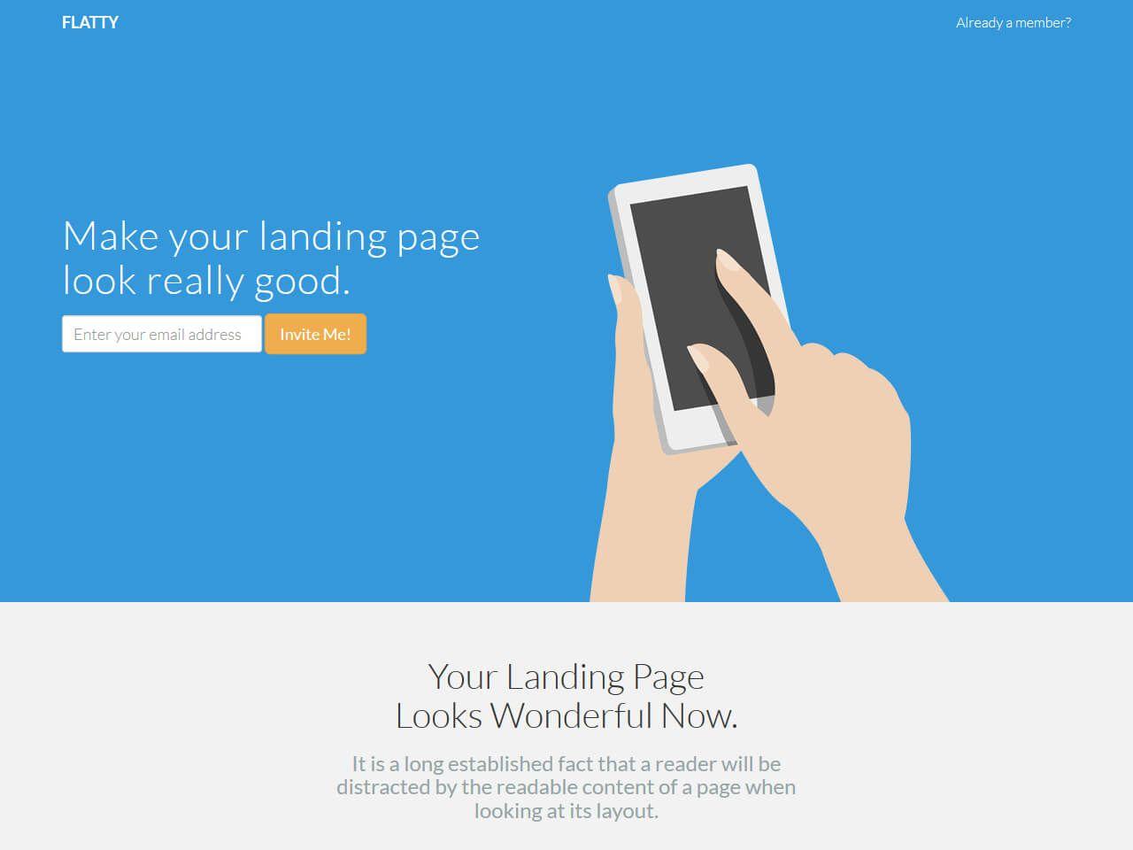 Flatty-登录页模板