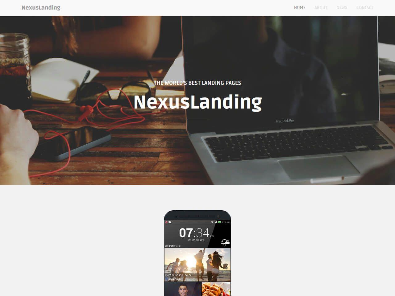 NexusLanding-目标网页模板