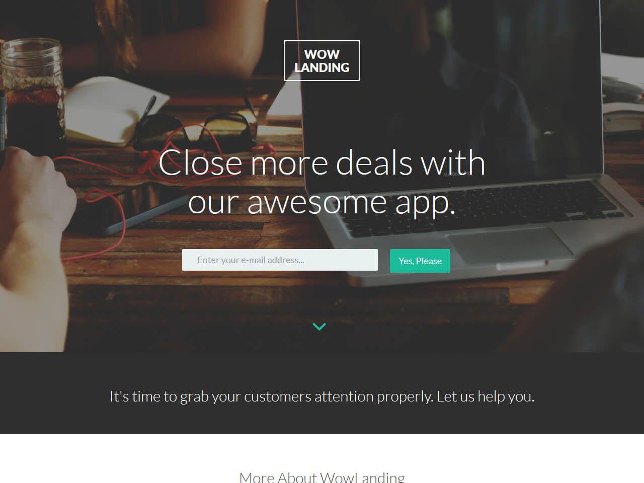 WowLanding-登录页模板