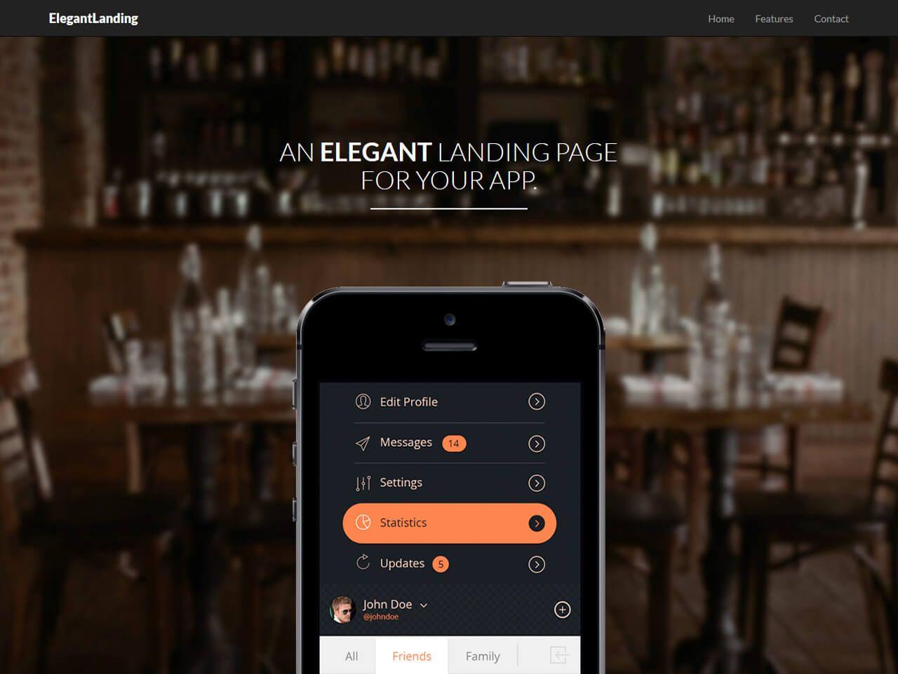 ElegantLanding-登录页模板
