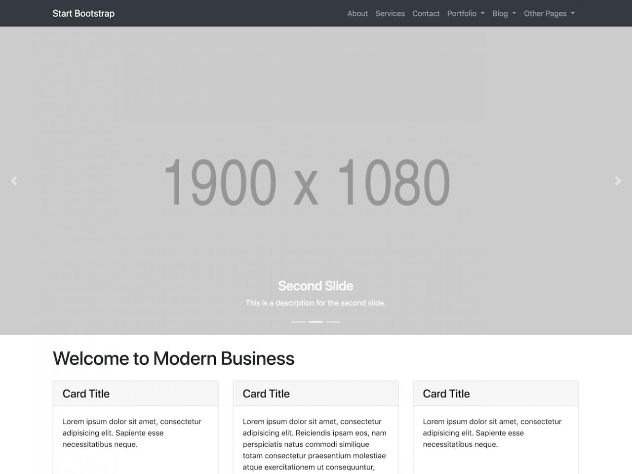 Modern Business-网站模板