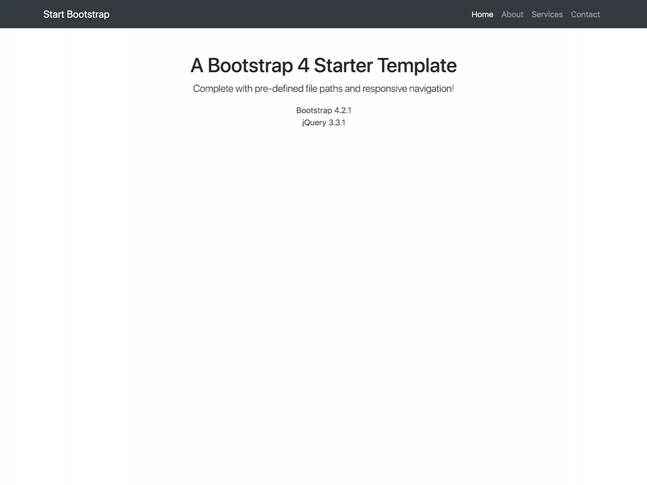 Bare-网站模板