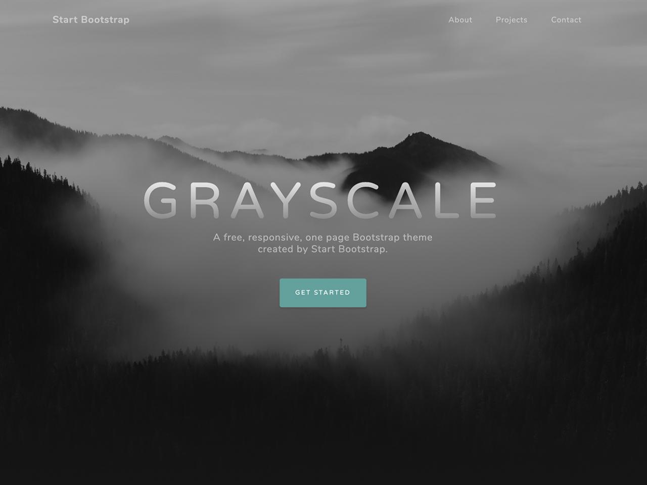 Grayscale-单页模板,网站模板