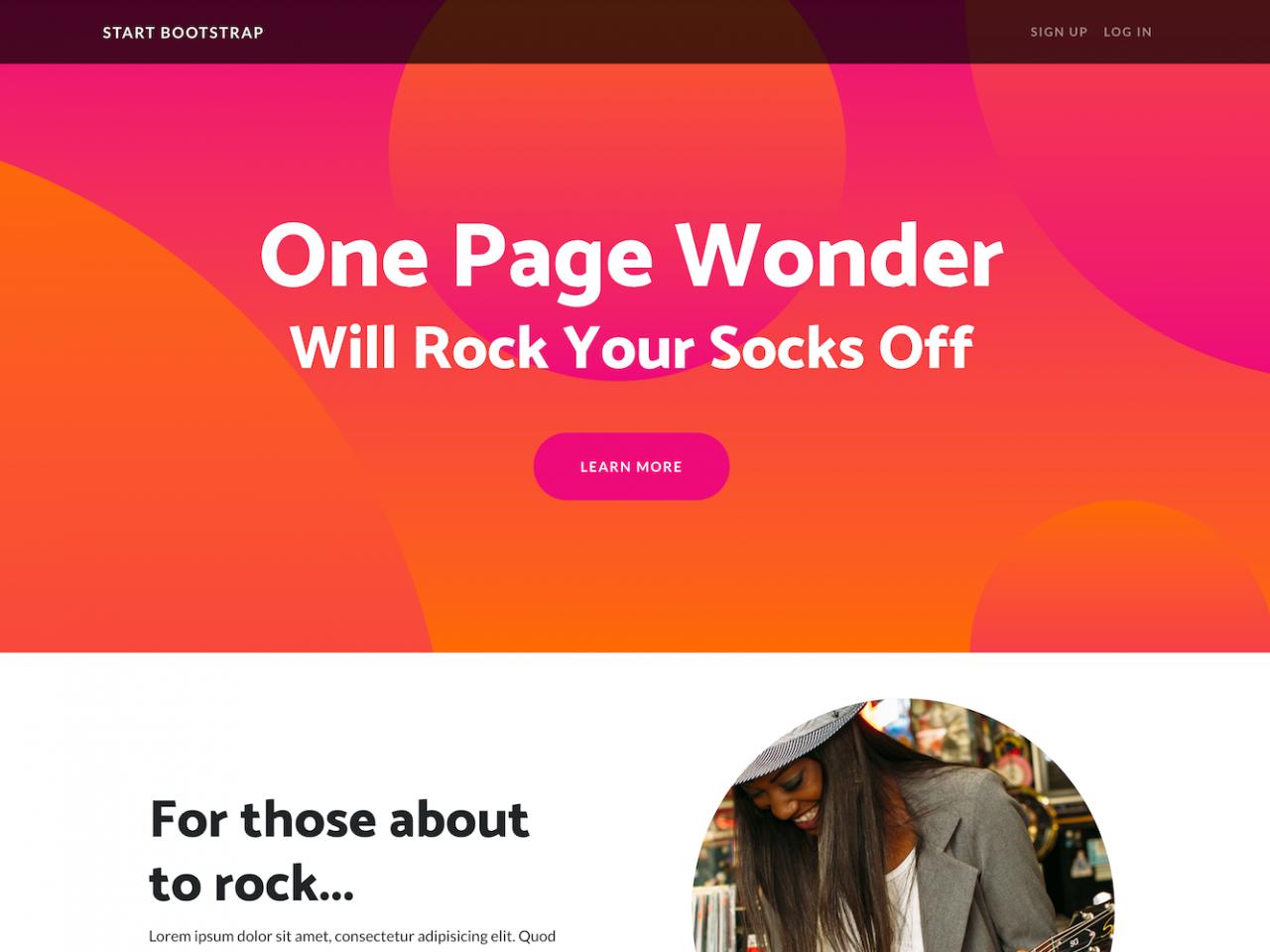 One Page Wonder-音乐网站单页模板