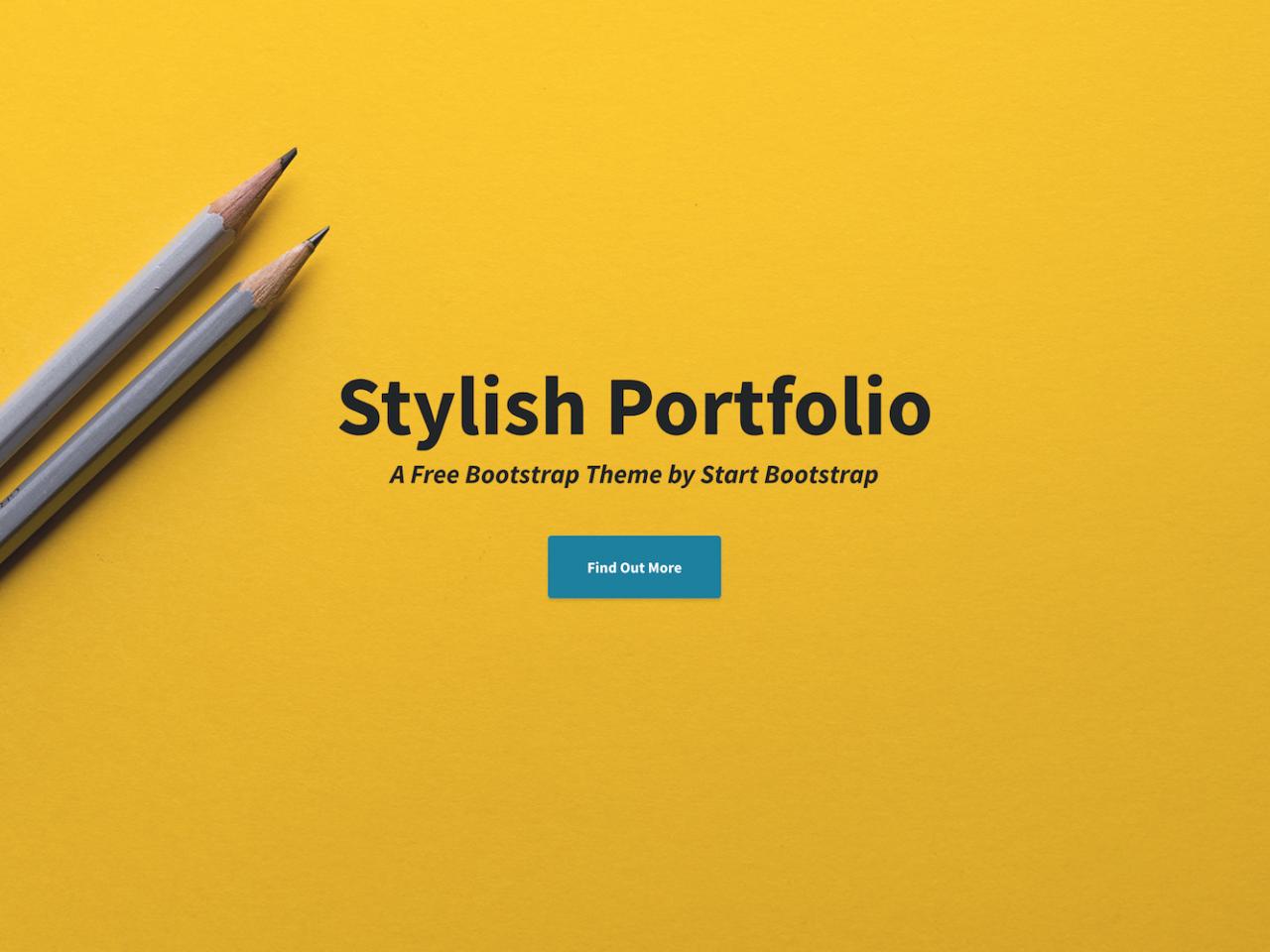 Stylish Portfolio-作品集、单页模板