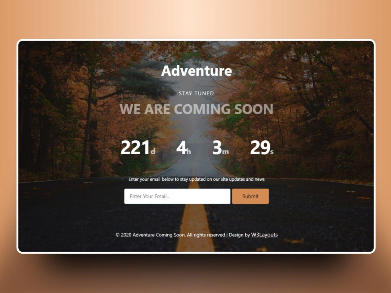 Adventure Coming Soon-计时器,企业模板