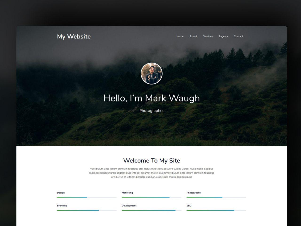 My Website-个人网站模板
