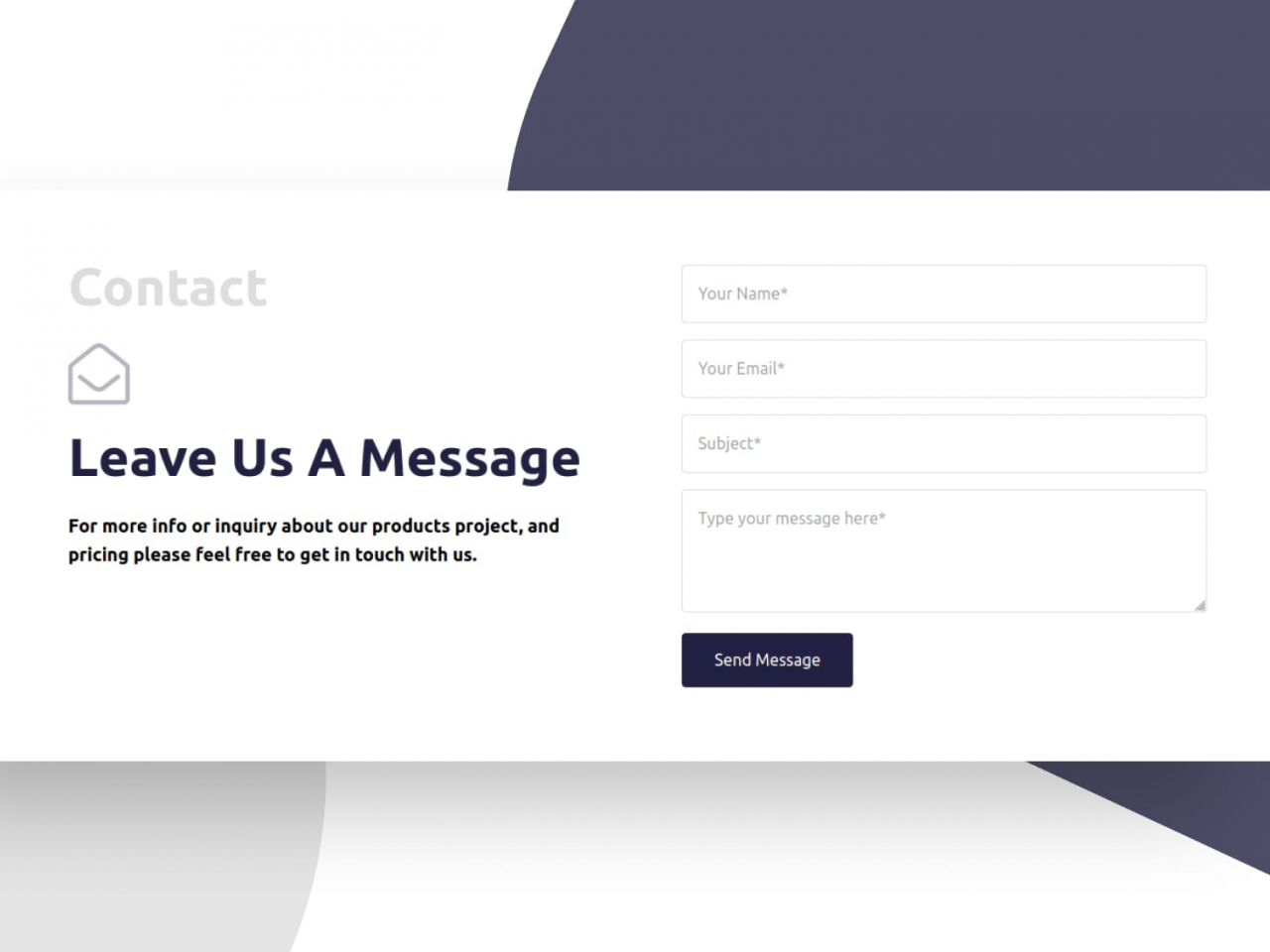 Clean Contact Form-联系表单模板