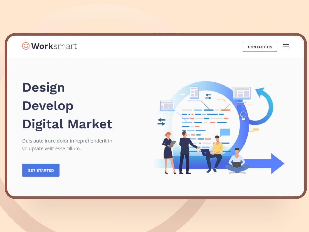 Worksmart-网站模板