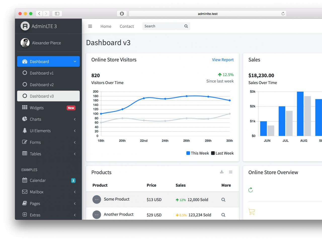 AdminLTE-后台UI框架