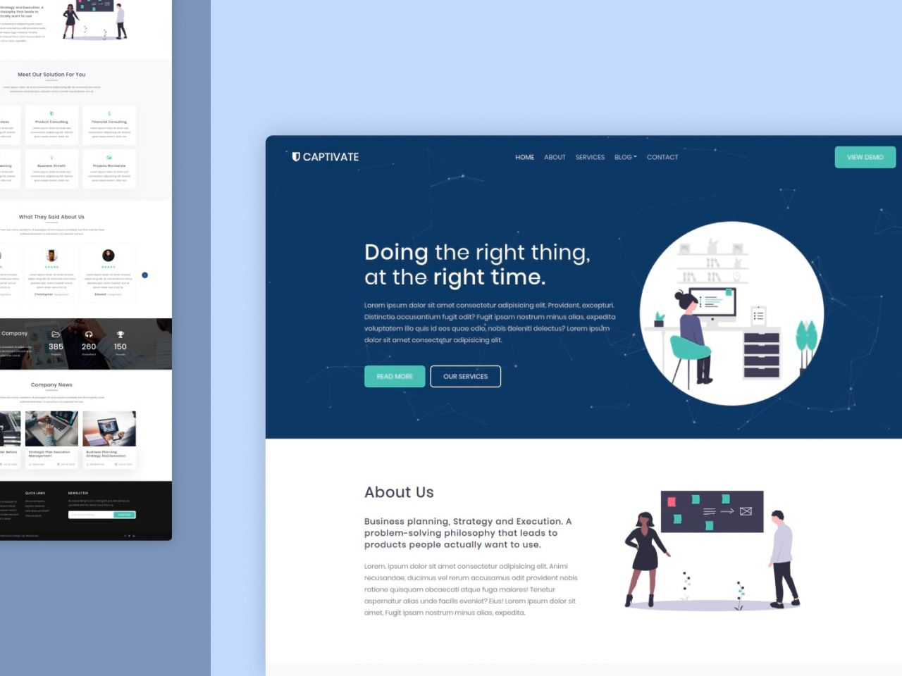 captivate-公司业务网站模板