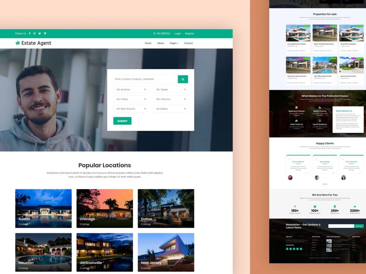 Estate Agent -房地产网站模板