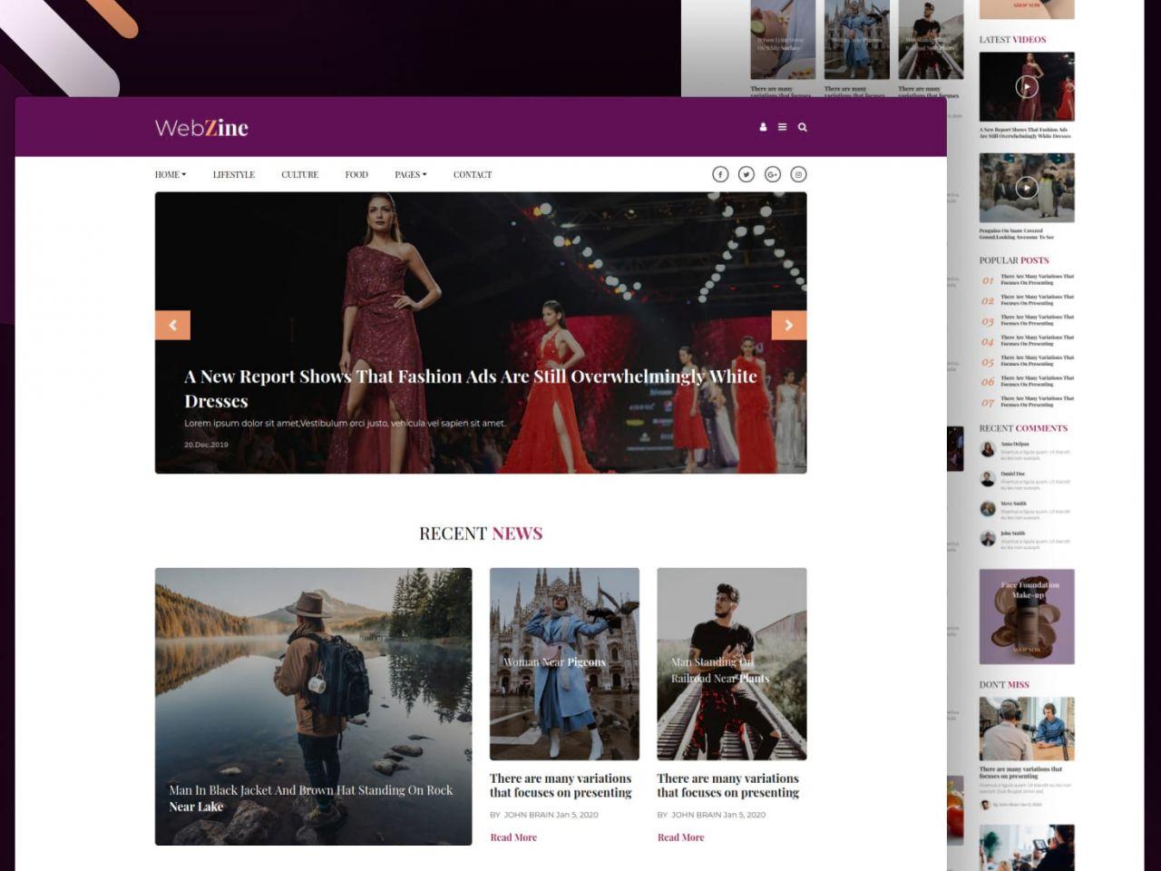 Webzine-生活博客网站模板