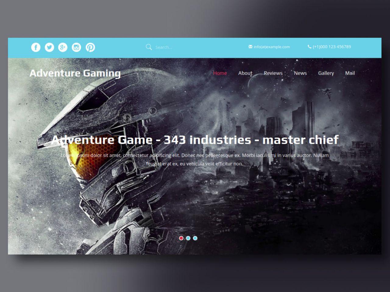 Adventure Gaming-游戏网站模板