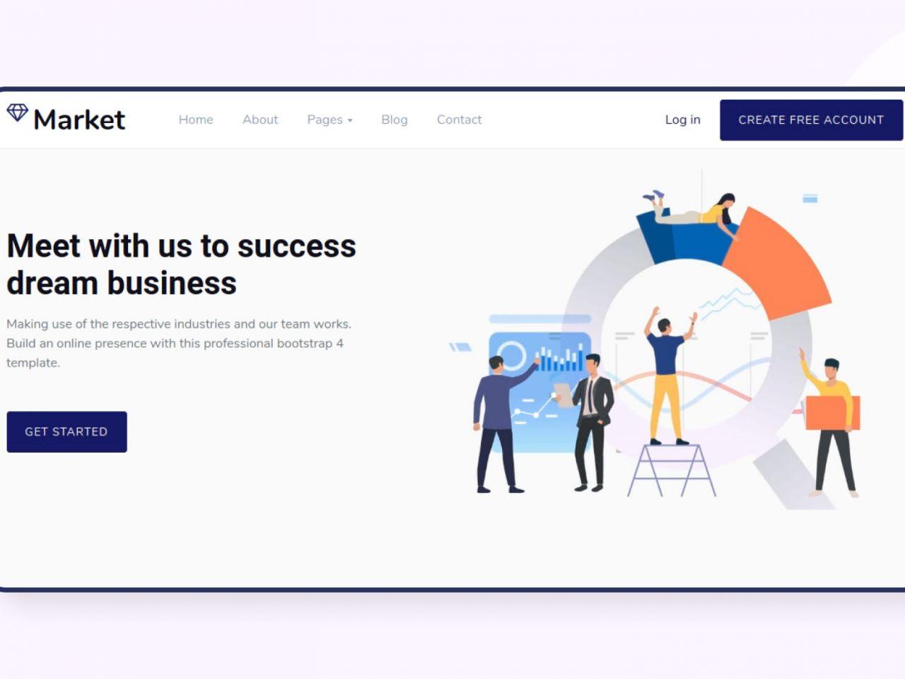 Market -公司,企业网站模板